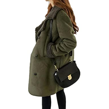 Wolljacke damen Kolylong® Hot Sale! Frauen Elegant Lange Wollmantel Herbst  Winter Verdickte Mantel Dicke 5add37bed8