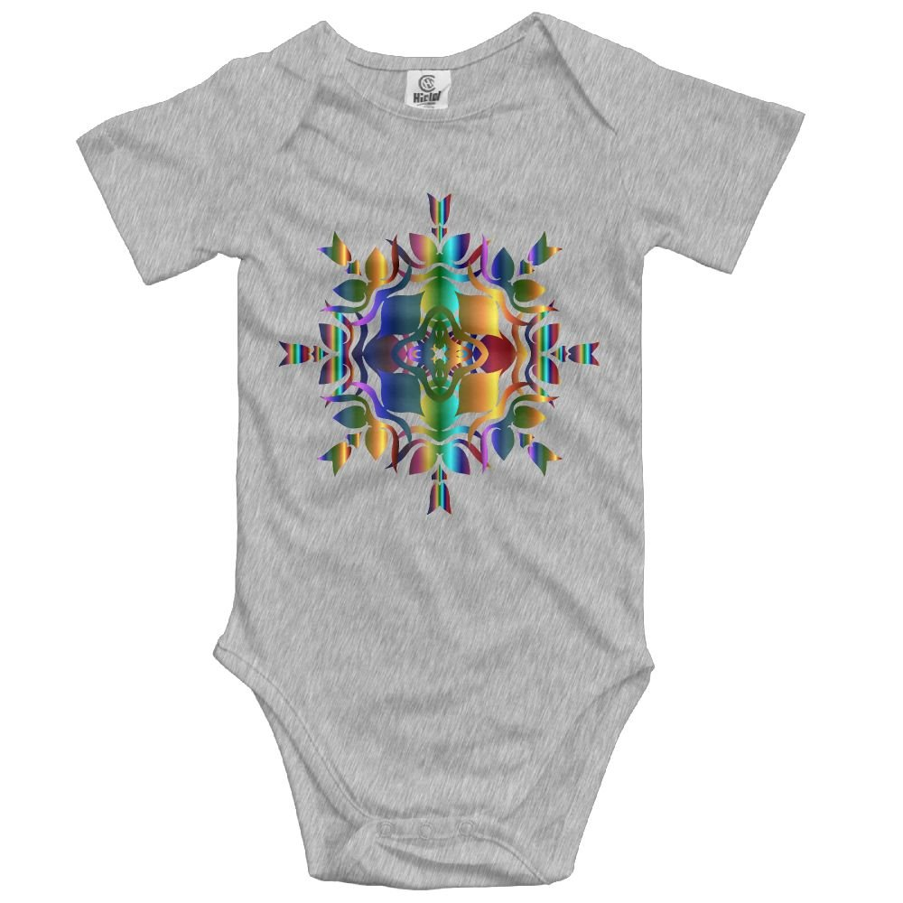Baby Bodysuit Abstract Design Short Sleeves Triangle Romper Bodysuit Outfits Infant Toddler Clothes