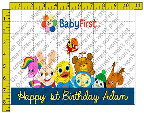 Baby First Personalized Edible Frosting Image 1/4 sheet Cake Topper