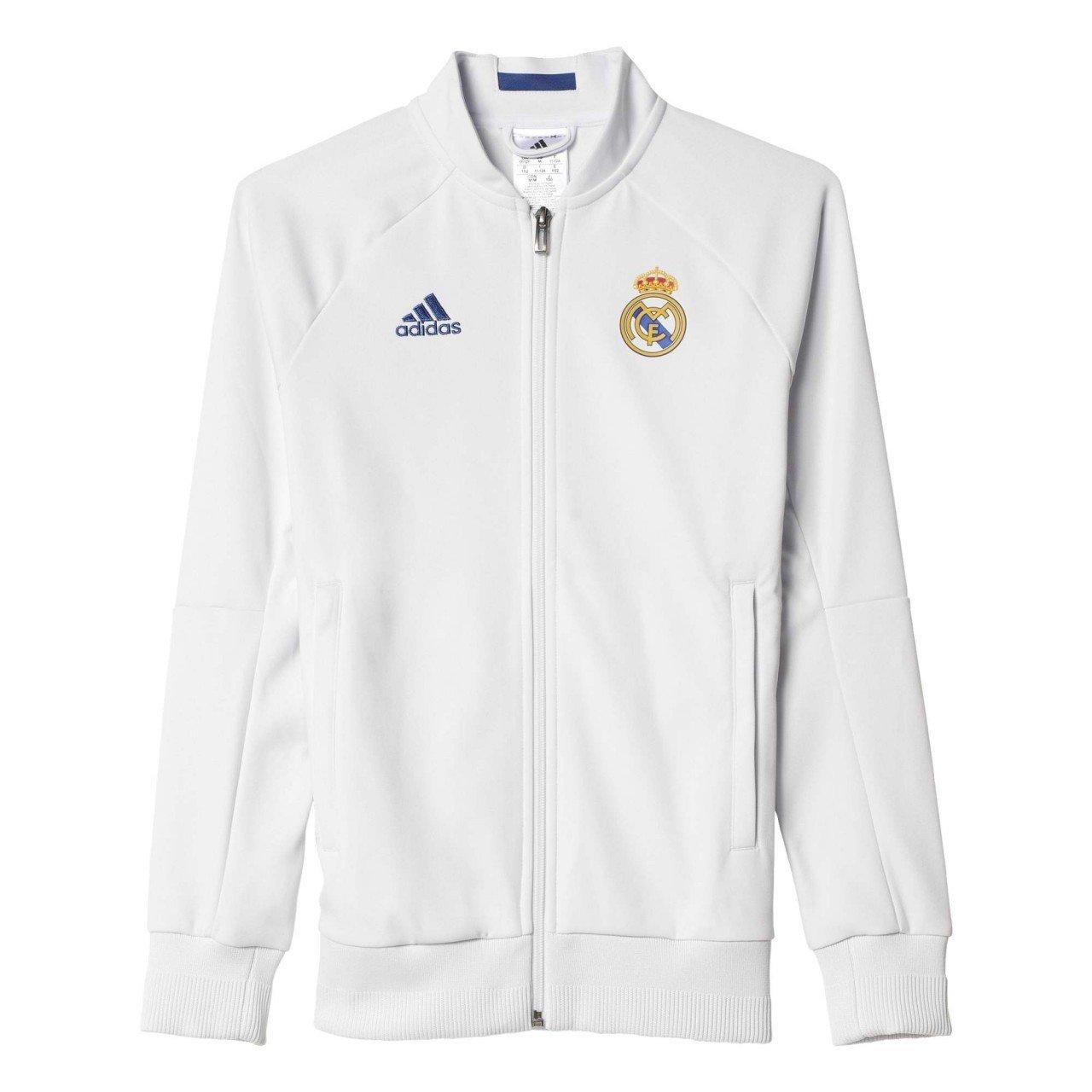 Adidas Real Madrid Anth JKT und Jacke, Weiß Violett