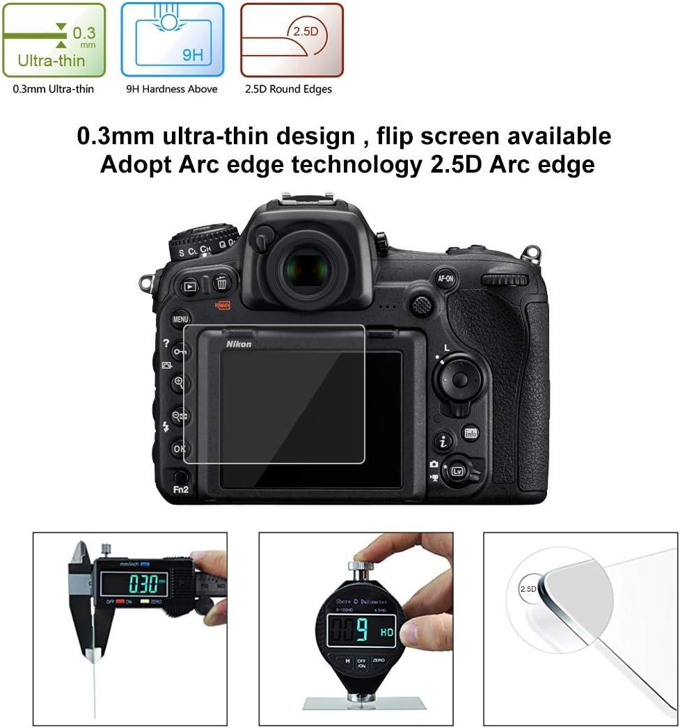 D5200 D4S Compatible with Nikon D5 D500 D5100 D600 D750 GFX50 P530 HS35 P510 D7100 D850 2.5D 9H Tempered Glass Film for Nikon D7100 D610 D800 D800E Fujifilm HS33 D810
