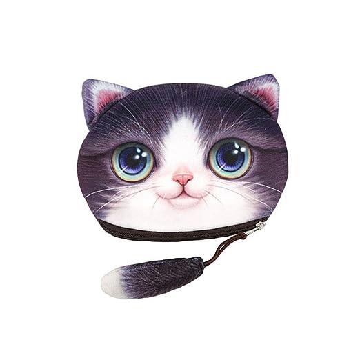 c5df4a1cde16f Chinget Niedlich Katze Form Mit Lanyard Geldbörse Geldtasche Polyester  Geldbeutel Münzen Beutel Portmonee (B)