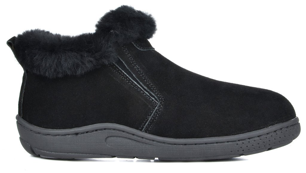 DREAM PAIRS Women's Huggie-01 Black Sheepskin Fur Winter House Slippers - 8.5-9 M US by DREAM PAIRS (Image #3)