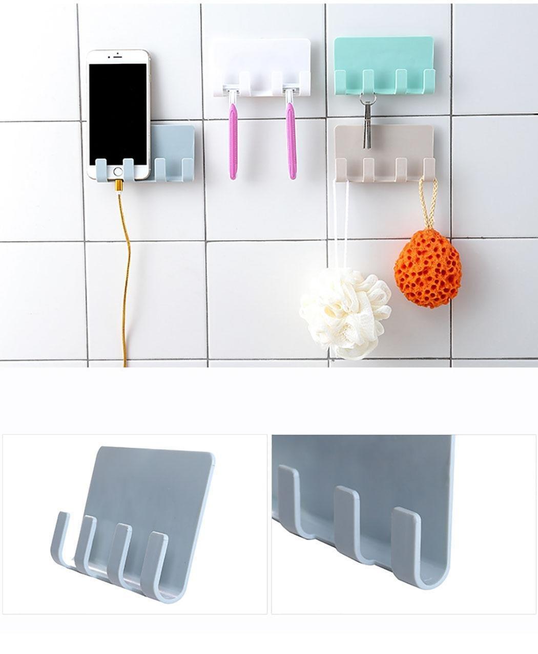 foulon Suction Office Storage Rack Hooks Solid Plast Tie Racks