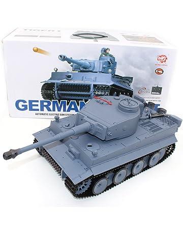RC Tanque, 2.4G 1/16 Alemania Tiger I Radio Control Remoto Disparar Sonido