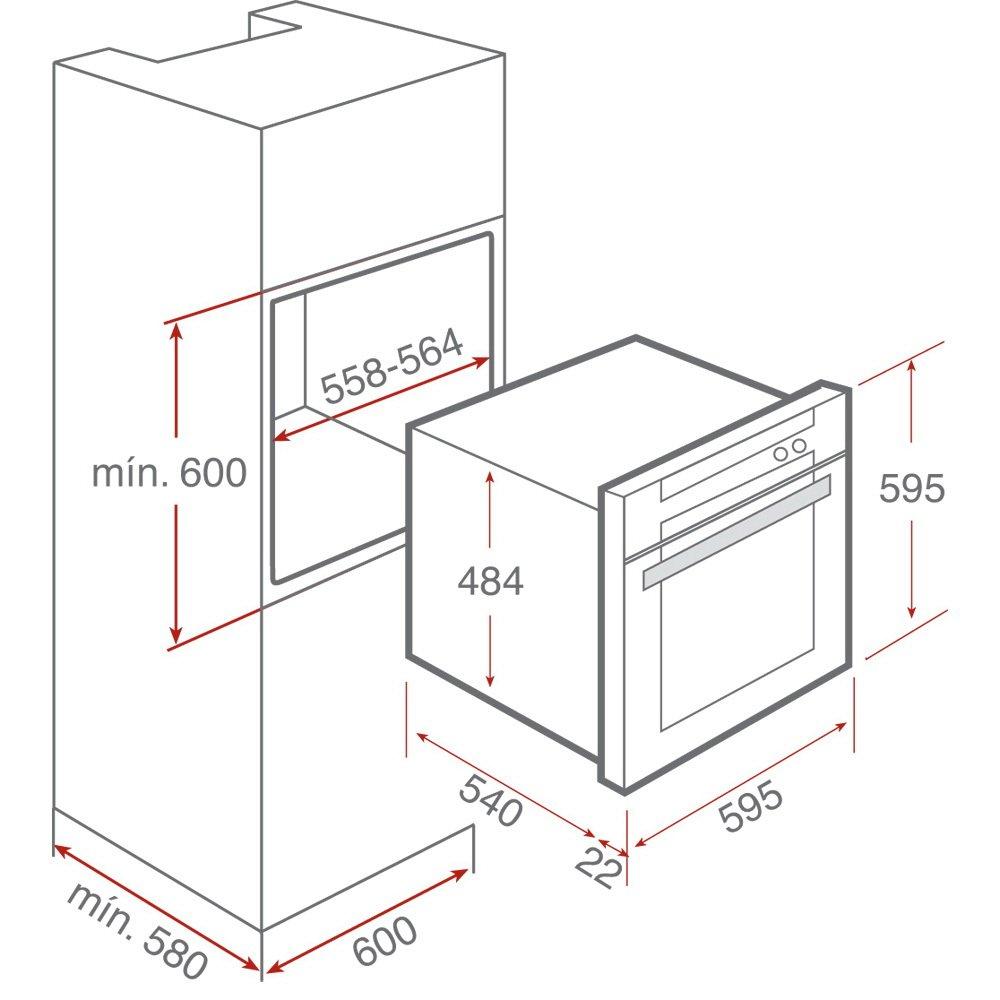 Teka HR 750 - Horno Hr750 Rústico Antracita: 305.8: Amazon.es ...