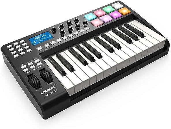 Asdomo PANDA25 Controlador de teclado MIDI USB de 25 teclas ...