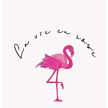Fabulous Poster Affiche Flamant Rose La Vie En Rose Dessin Texte