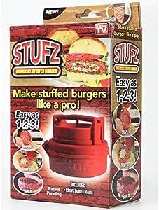 Amazon Com Stufz Stuffed Burger Press As Seen On Tv Hamburger Grill Bbq Patty Maker Juicy Garden Outdoor