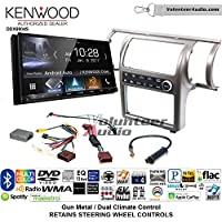 Volunteer Audio Kenwood DDX9904S Double Din Radio Install Kit with Apple CarPlay Android Auto Bluetooth Fits 2003-2004 Infiniti G35 (Gun Metal) (Dual zone A/C controls)