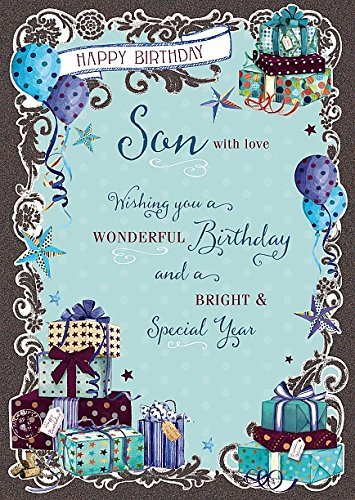 Image Unavailable Not Available For Color Son Birthday Wonderful Nice Verse Quality Greeting Card
