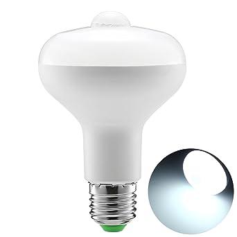 Sensor de movimiento Bombilla, 9W R80 Smart PIR Bombillas LED Auto encendido / apagado Luces