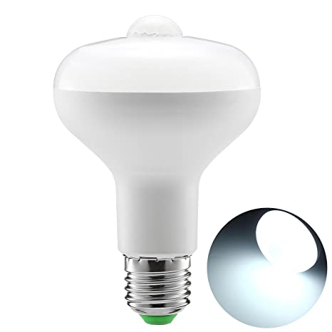 9 W R80 bombillas de luz LED Bombilla inteligente PIR Sensor de movimiento Auto ON/