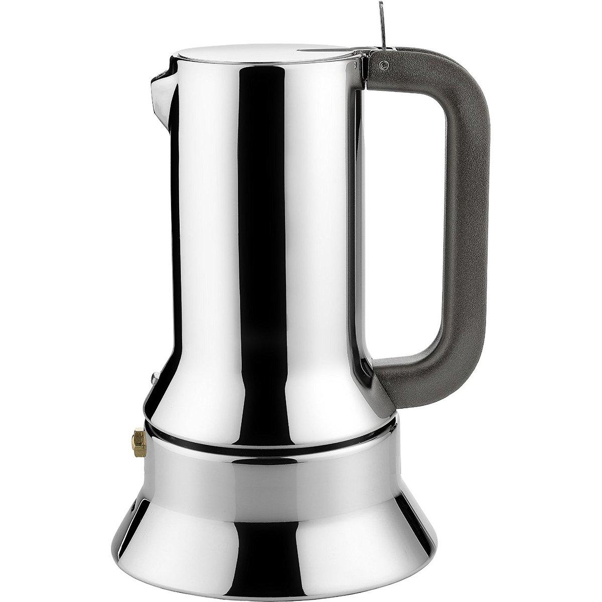 Alessi Espresso Maker 9090 by Richard Sapper, 6 Espresso Cups by Alessi