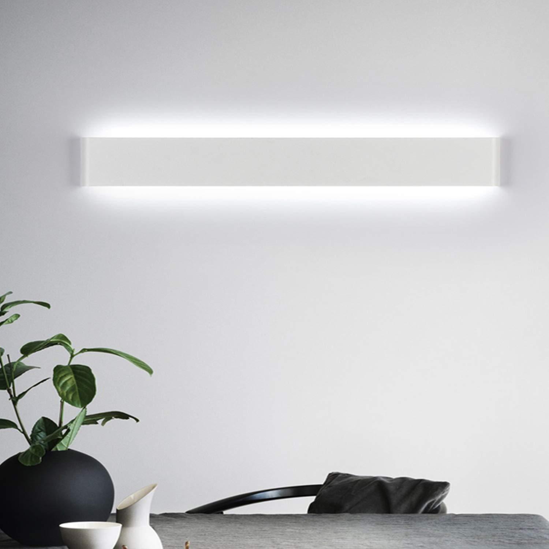 Yafido Aplique Pared Interior LED 90CM L/ámpara de pared 30W Blanco Fr/ío para Salon Dormitorio Sala Pasillo Escalera AC 220V