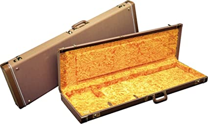 Amazon.com: Fender Jazzmaster Hardshell Case Brown Gold ...