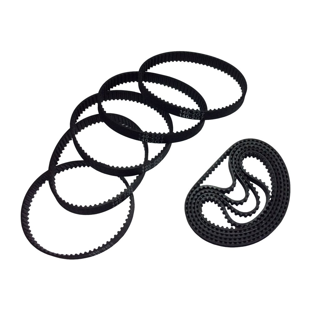 BEMONOC 3D Priner Parts GT2 140-2GT-6 Timing Belt L=140mm W=6mm 70 Teeth in Closed Loop Pack of 10pcs