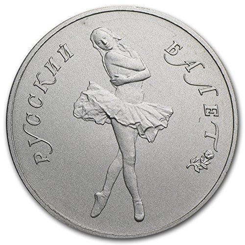 1989 RU Russia 1 oz Palladium Ballerina Matte Proof 1 OZ About Uncirculated ()