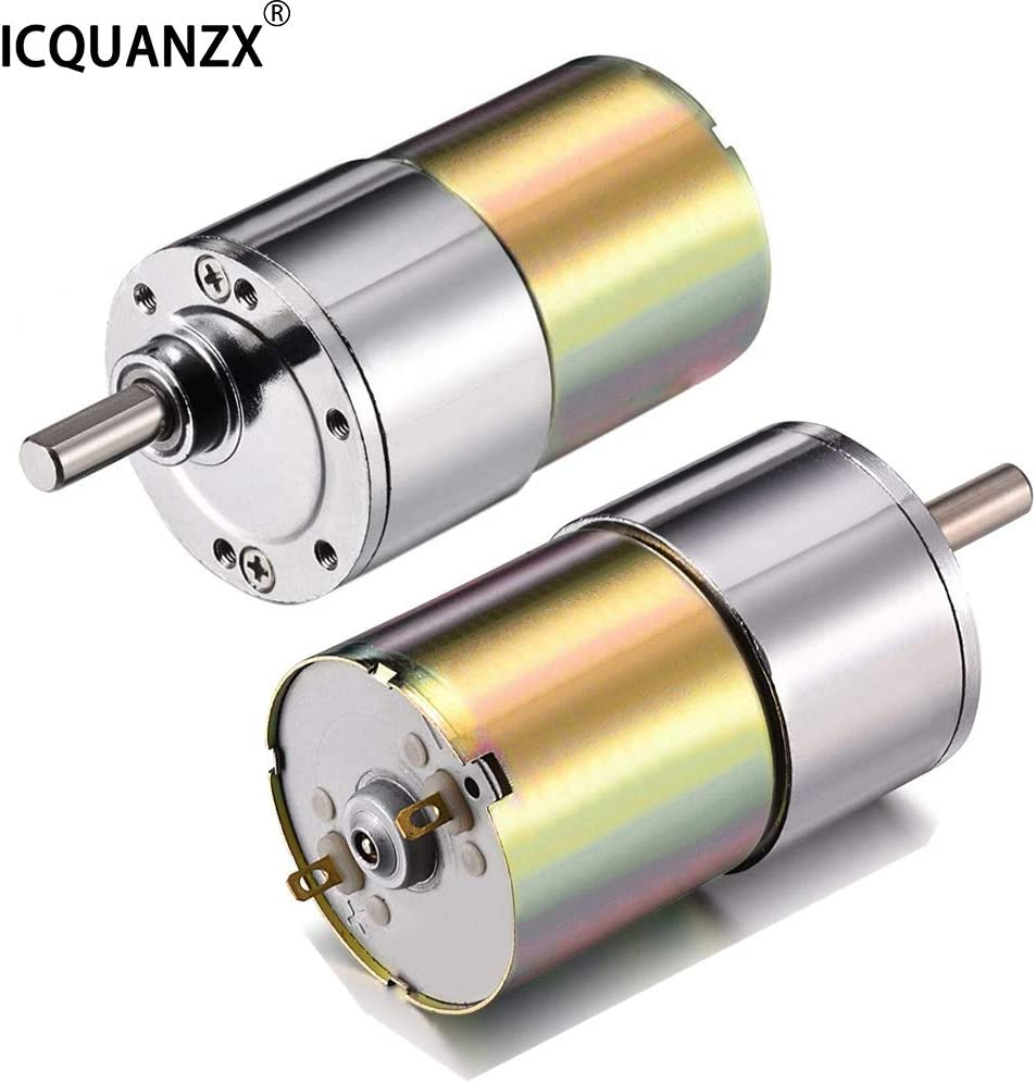 ICQUANZX DC Gear Motor 12V 200R High Torque Electric Micro Speed Reduction Geared Motor Centric Output Shaft Diameter Gearbox