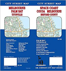 Cocoa Melbourne Brevard County Space Coast Florida Street Map