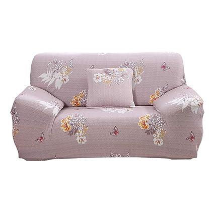 Hotniu Funda de sofá Impresa para 1 2 3 Sofá de 4 plazas-Spandex Ajuste elástico ...