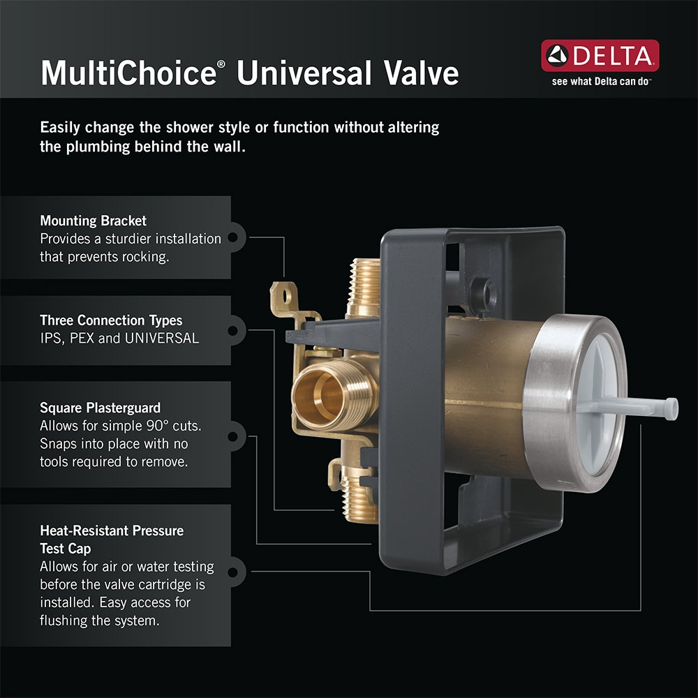 Delta Faucet R10000-UNBX MultiChoice Universal Tub and Shower Valve ...