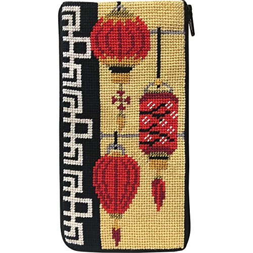 Stitch & Zip Eyeglass Case Needlepoint Kit- Chinese Lanterns