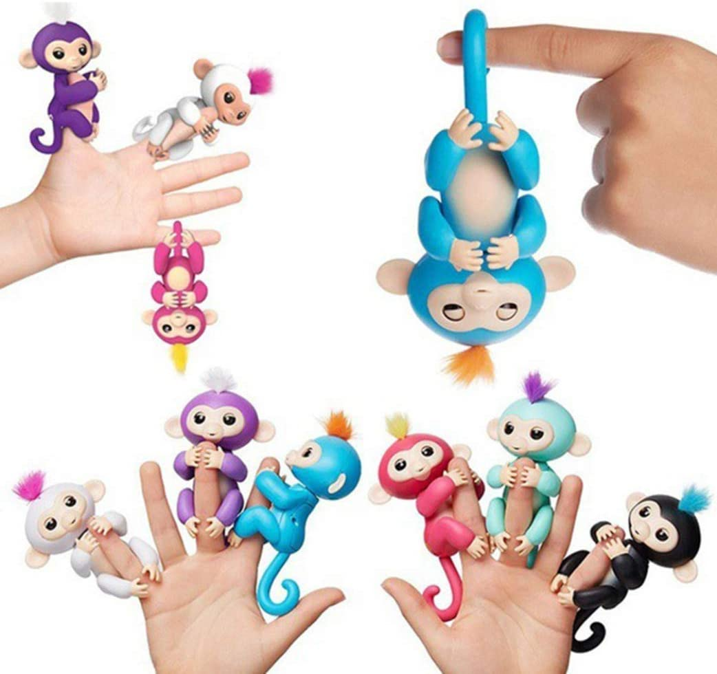 OJKM faultless Childrens Finger Electronic Pet Monkey Clings Interactive Toy Intelligent Touch None BL