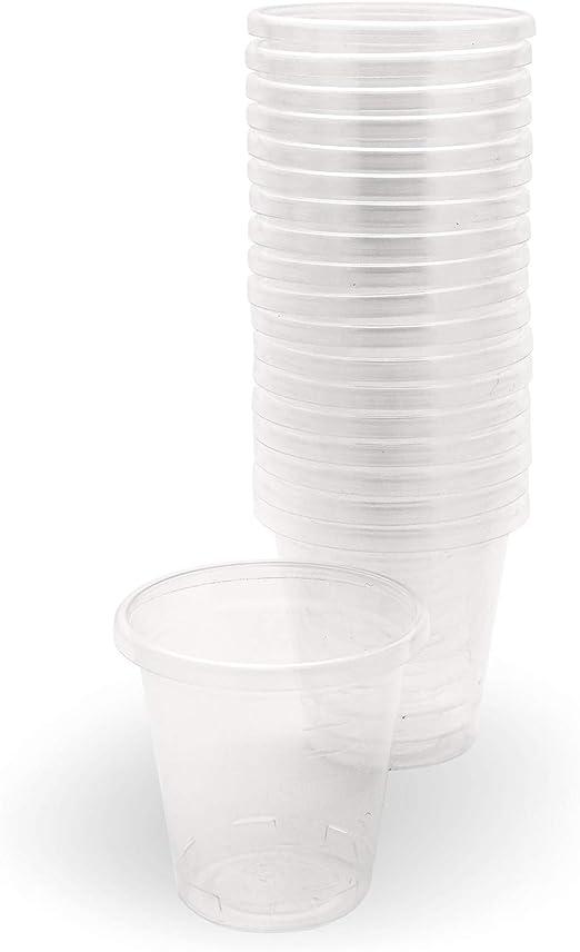 Plantvibes® 100 Vasos de bebidas 50ml, Vaso de plástico ...