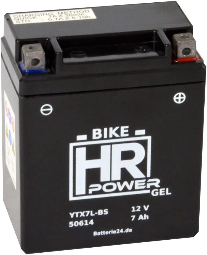 Gel Motorrad Batterie 12v 7ah Ytx7l Bs 50614 Wartungsfrei Auto