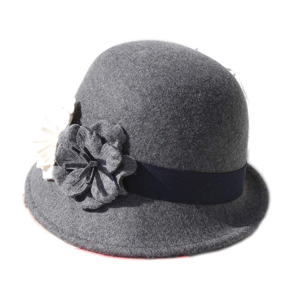 YSJOY Womens 100% Wool Contrast Color Bowknot Bucket Hat Cloche Hat Winter Hat