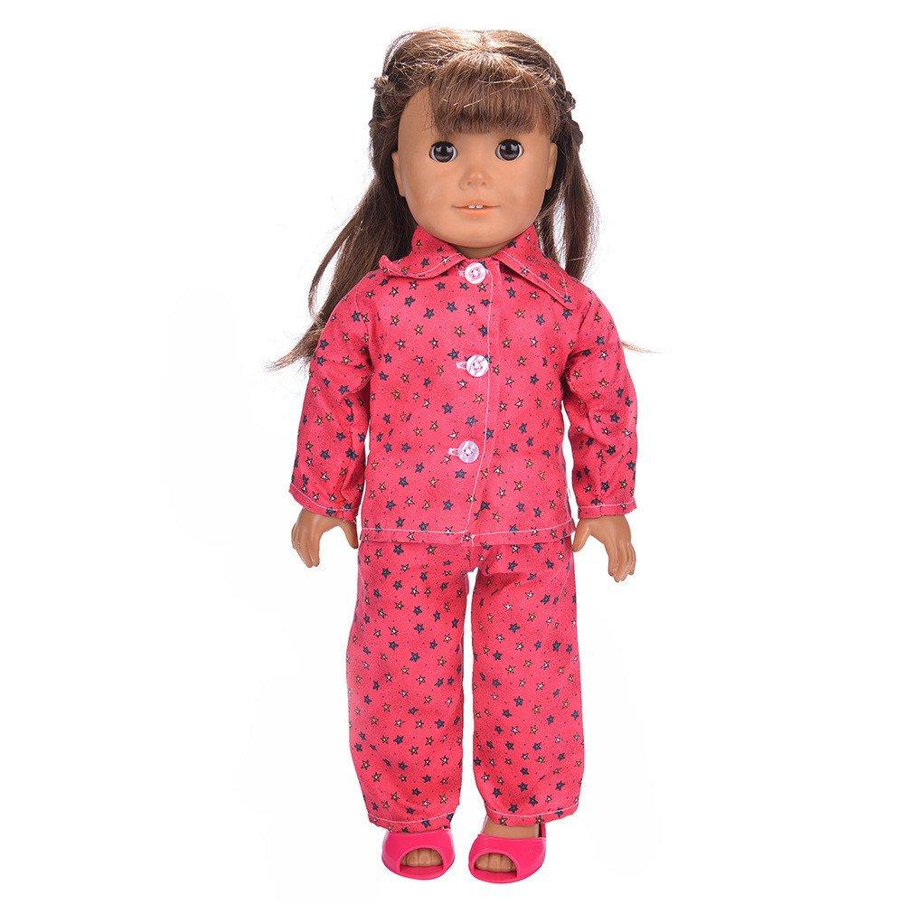 海外並行輸入正規品 Gbell 服 18インチ人形パジャマ 寝間着 Our Generation アメリカンガール 人形 服 Generation 人形 アクセサリー 18インチ ベビーガール 小さな女の子へのギフトに <br><br> レッド B07K738TXH, 唐子屋:df1a1370 --- realcalcados.com.br
