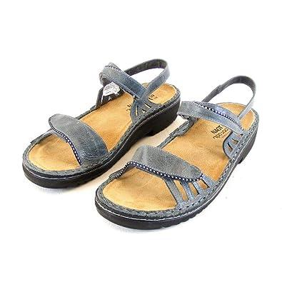 Naot Sandaletten Schuhe Blaugrau Damen Echt Leder Wechselfußbett Anika 10324 vN0Onm8w