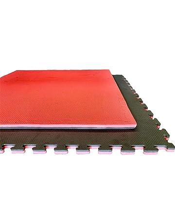 Jardin202 - Lote x10 losetas Tatami Puzzle - Rojo/Negro