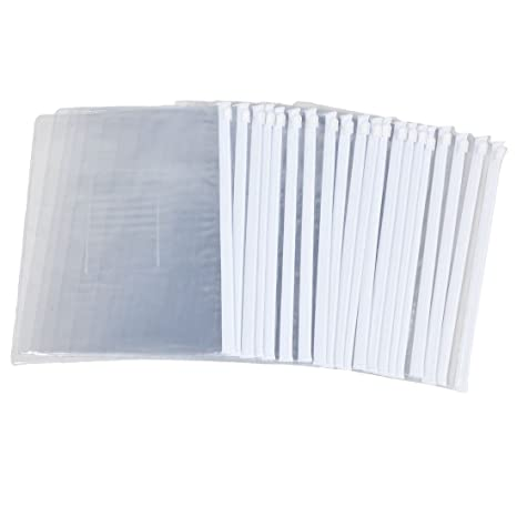 6b609a16d9fc Amazon.com : Uxcell A5 Paper Slider Ziplock Folders Files Bags, 20 ...