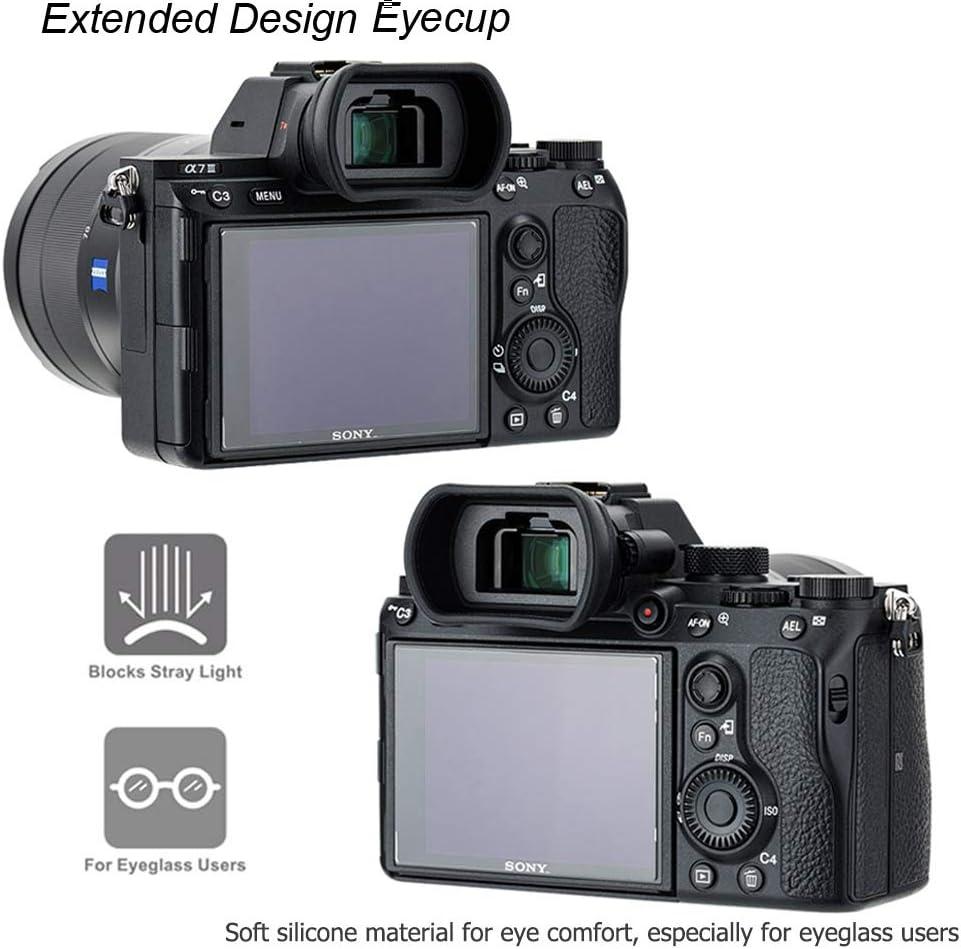 A7 II A7S II A7RIII A9II A7S A99II Sostituisce Sony FDA-EP18 A58 A7III A7RII A7R A7 PROfezzion Grandi Estese in Morbido Silicone Oculare per Sony Alpha A9 A7RIV