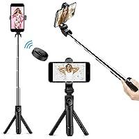 Selfie Stick Bluetooth, Doosl Selfie Stick Tripod - Extendable Tripod Stick with Remote - Facetime Phone Stand, Wireless…