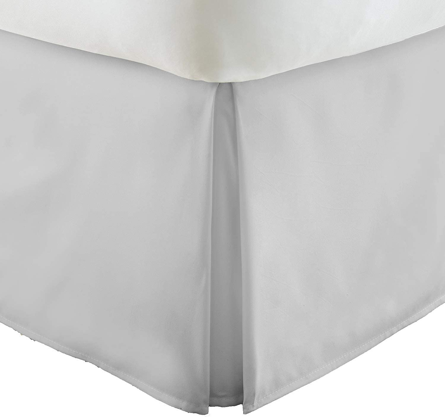 Stripe White 700 TC Cotton Ruffle Bed Skirt Split Corner All Bed Size Drop Sale