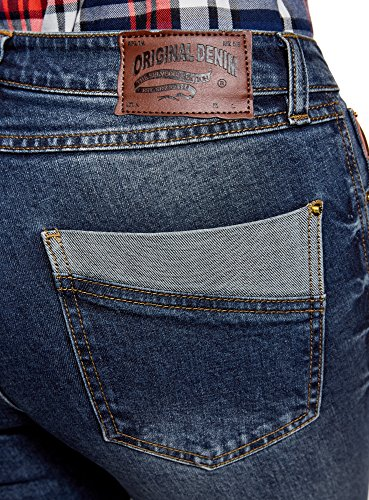 Mi Taille Skinny Ultra oodji 7900w Haute Jean Femme Bleu wFTXOO7Zqx