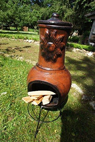 Antikas - Terrassenofen, Ton, Ofen für die Terrasse, Kaminofen, Girasol 90 Ofen für die Terrasse