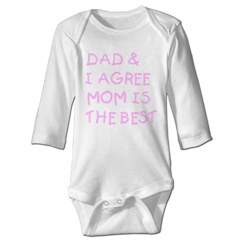 Midbeauty I Agree Dad Newborn Cotton Jumpsuit Romper Bodysuit Onesies Infant Boy Girl Clothes
