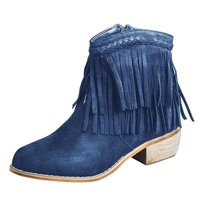 Stivali e stivaletti da donna blu con tacco basso (1,3 3,8