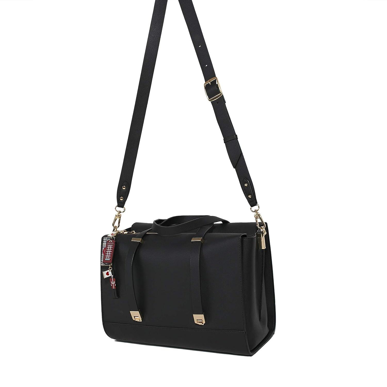 ea5247d56 Parfois - London Black Briefcase - Women - Size L - Black: Amazon.co.uk:  Shoes & Bags