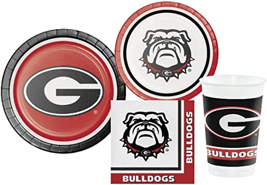 8 Pk Duck House Univ of Georgia Disposable Paper Cup