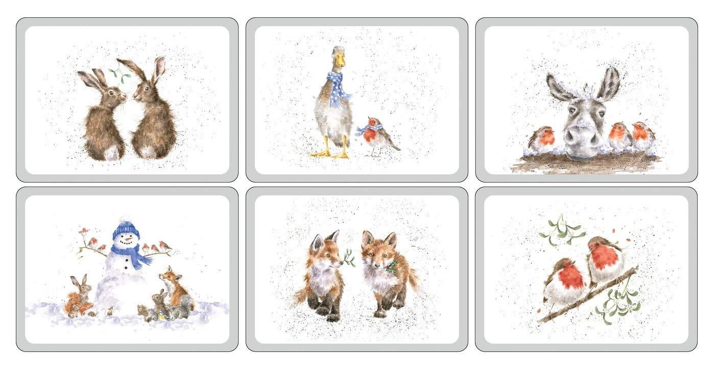6 Coasters Wrendale Wonderland 6 Placemats