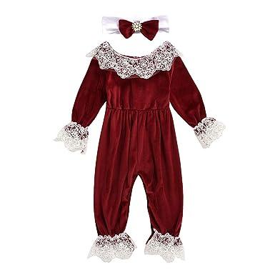 Heetey - Vestido de Encaje para recién Nacido, para niña, con ...