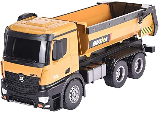RC Remote Car Toys Transport Vehicle 1573 1//14 2.4G 10CH Alloy Dump Truck Load Capacity 10kg RC Car Yellow