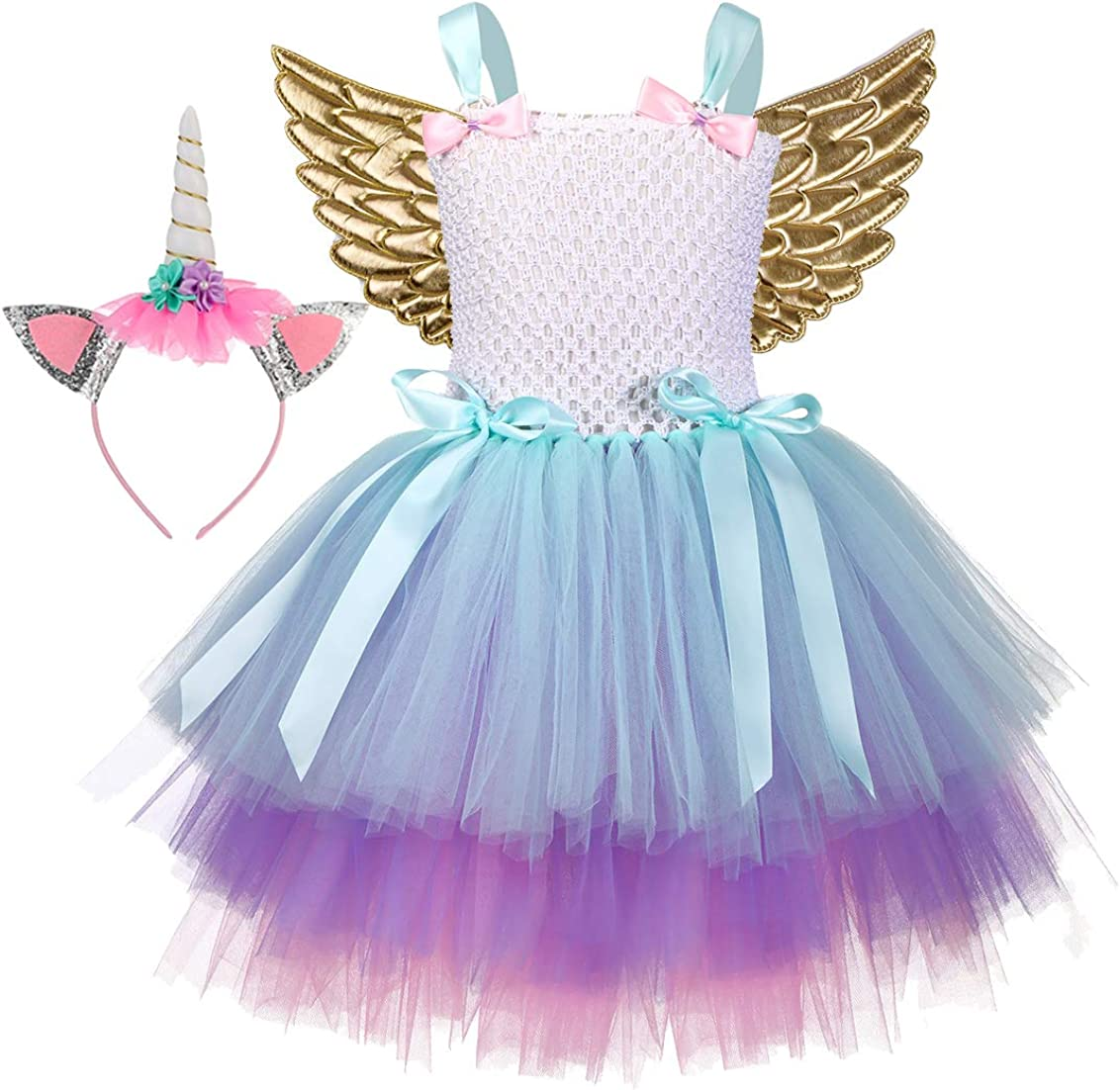 Tutu Dreams 3pcs Princess Costume Dress for Girls 1-12Y Birthday Halloween Party