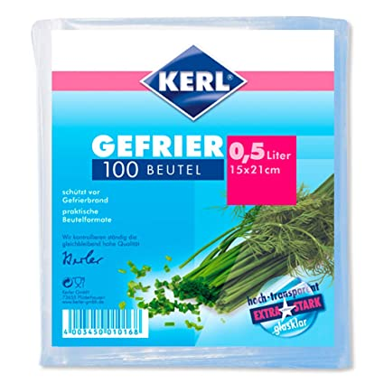 Kerl 4003450010168 - Bolsas para congelados (0,5 l, 15 x 21 ...