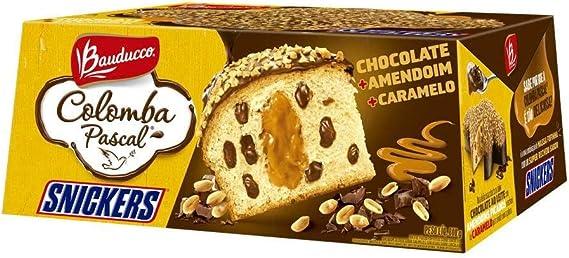 Colomba Pascal Recheada Sabor Snickers 650g - Bauducco: Amazon.com.br: Alimentos e Bebidas